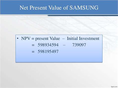 Net Present Value Mba Math by International Finance Project