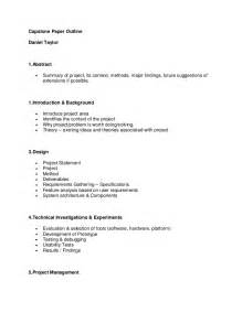 Report Outline by Capstone Outline Report