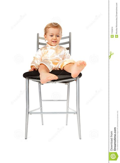 Baby In Chair by Adorable Baby Sitting On A Chair Stock Images Image