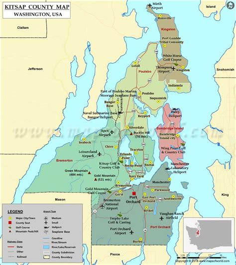 Kitsap County Search Kitsap County Wa Map Images