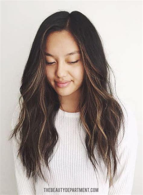 hair highlight for asian best 25 asian highlights ideas on pinterest balayage