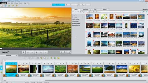 tutorial video deluxe magix magix photostory deluxe create a slideshow for every event