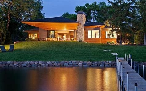 1 Story Open Floor House Plans by 12 Spectacular Eco Friendly Modern House Designs On Lakes