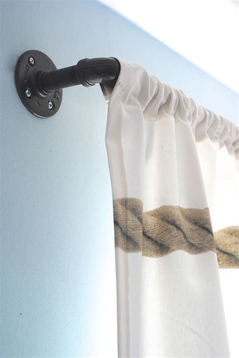 Curtain Rod Ideas Decor Pneumatic Addict 50 Diy Industrial Decor Ideas