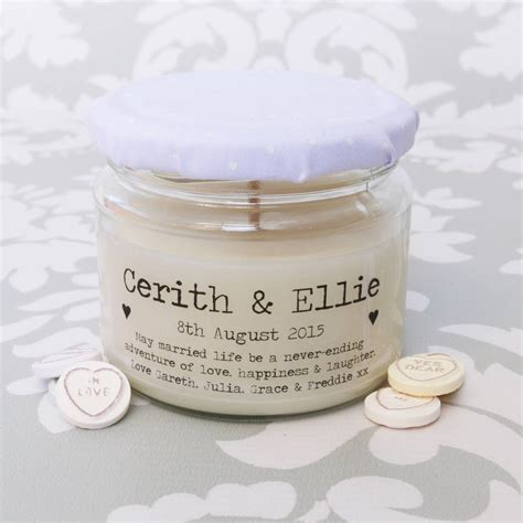 Wedding Gift Candles by Personalised Message Wedding Candle By Lumitique