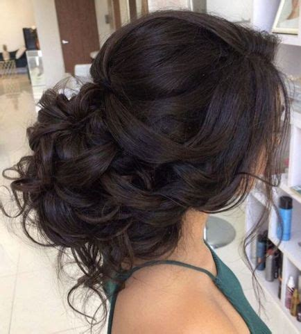 prom hairstyles brown hair nice classic loose curly low updo wedding hairstyle