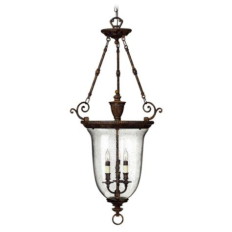 Hanging Pendant Lighting Hanging Pendant Lantern Light With Blown Seeded Glass 3714fb Destination Lighting