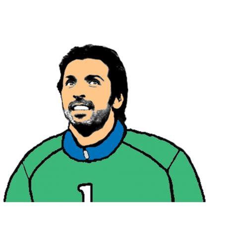 gioco portiere di calcio italiano disegno di gianluigi buffon a colori per bambini
