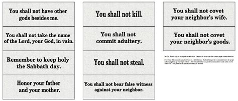 printable version of catholic ten commandments the catholic toolbox ten commandments activities