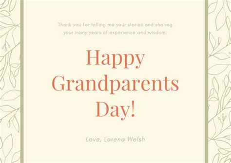 grandparents day card templates canva
