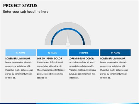 project powerpoint template project status powerpoint template sketchbubble
