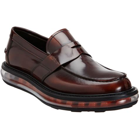 prada mens loafer prada levitate loafer in brown for transparent