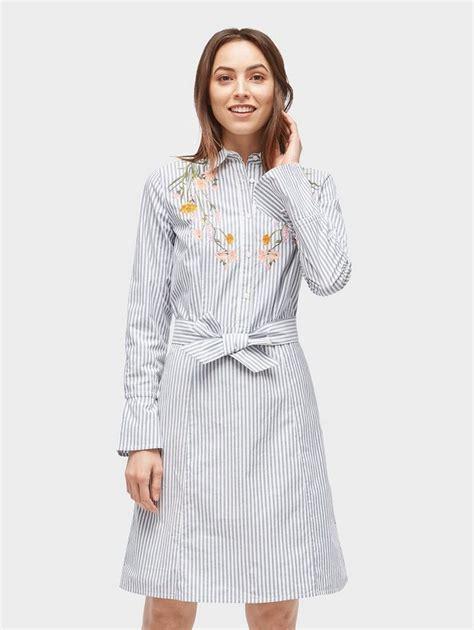 tom tailor blusenkleid gestreiftes kleid mit floraler