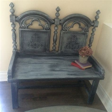 antique foyer bench refurbished vintage distressed entryway bench