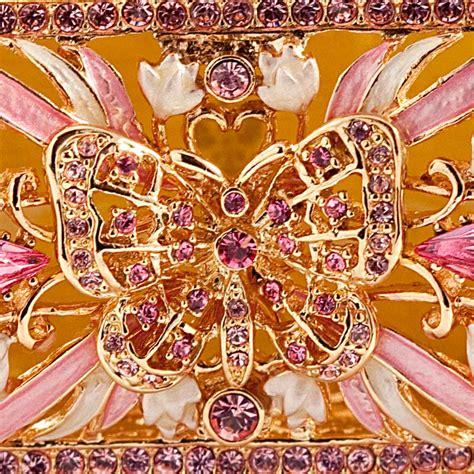 jewelry box butterfly faberge style box russian jewelry