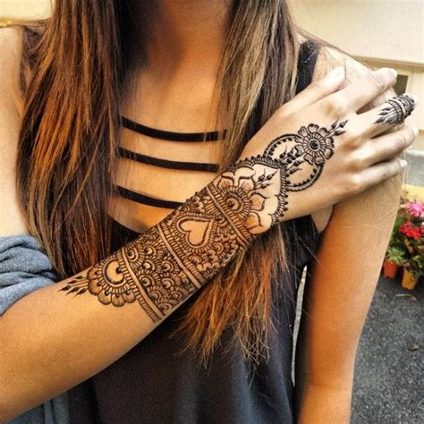 henna tattoo forearm arm henna design henna beautiful mandala