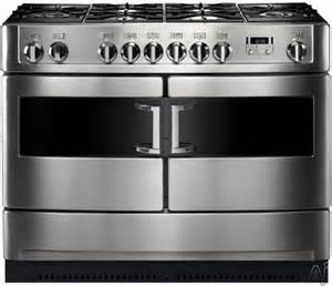 Heartland hlp44ngs 44 quot duel fuel range with 6 sealed burners 2 wok