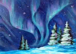 Snow White Wall Mural aurora borealis painting by marion bradish aurora