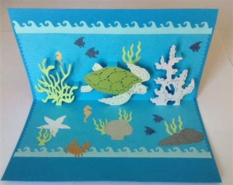 tortoise pop up card template kirigami modele tortue de mer card kirigami sea turtles