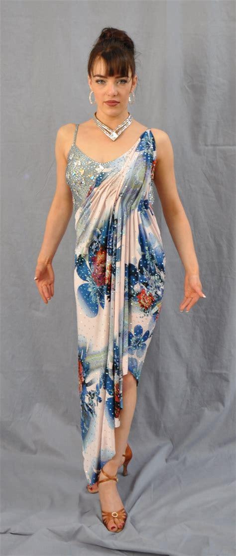 pattern latin dress sexy one of the kind flower pattern latin dress