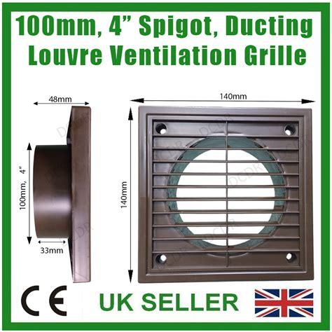 robin extractor fan 100mm 4 quot robinet conduit marron mural ventilateur