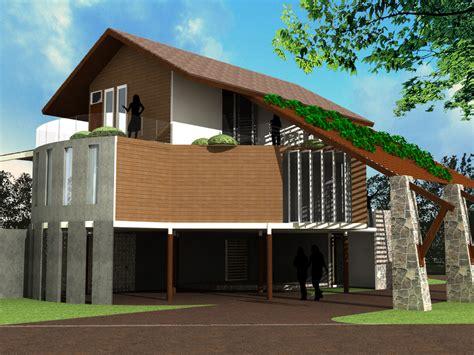 bina rumah atas tanah sendiri  idea rumah moden tradisional