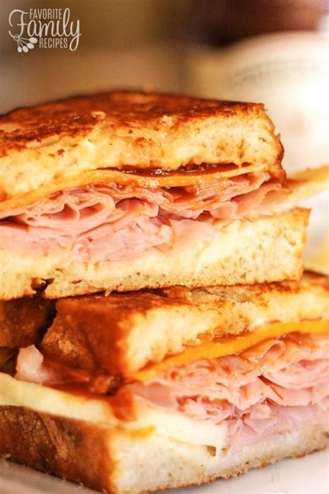 Sandwich Melt Cheese apple ham and cheddar melt sandwiches with apple butter