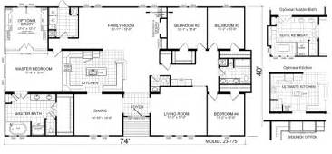 Triple Wide Trailer Floor Plans by Triple Wide Mobile Home Floor Plans Manufactured Home