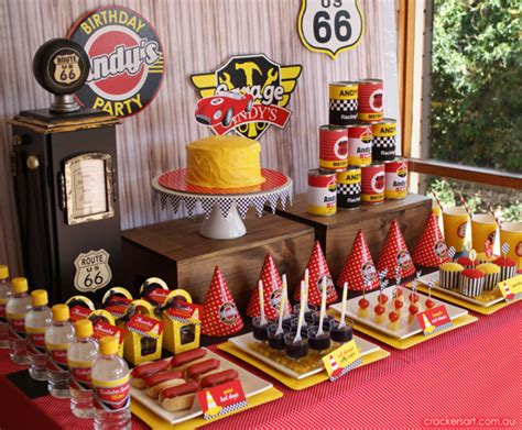 cars themed birthday giveaways kara s party ideas vintage rustic race car mcqueen cars