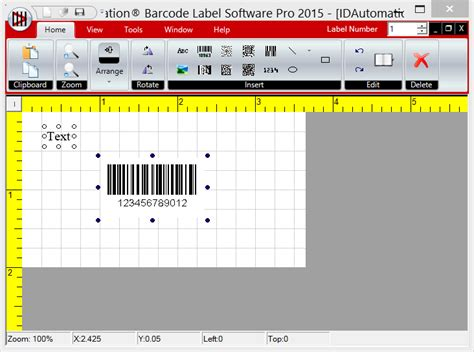 software pembuat label barcode idautomation free barcode label design application