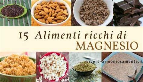 alimenti con magnesio alimenti ricchi di magnesio le migliori fonti vegetali