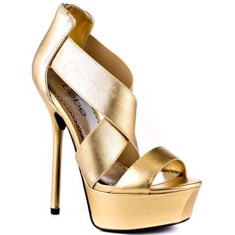 high heels gold shoes bebe s gold cleo gold for 119 99 direct from heels