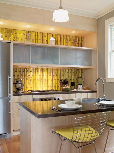 kitchen cabinets yellow kitchen backsplash