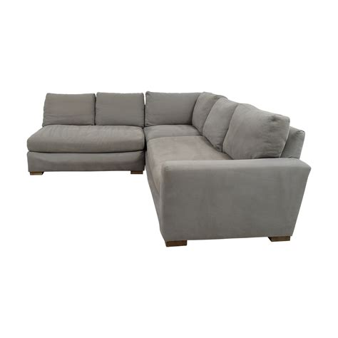 l shaped grey sofa 53 off restoration hardware restoration hardware grey l