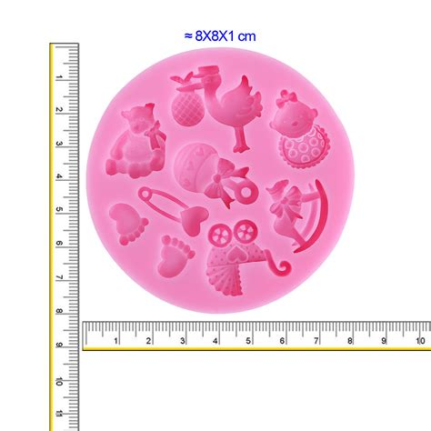 Baby Shower Molds by Baby Shower Cake Fondant Molds Silicone Mold Soap Candle