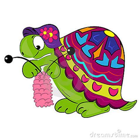 cartoon turtle knitting animal illustration stock photography image