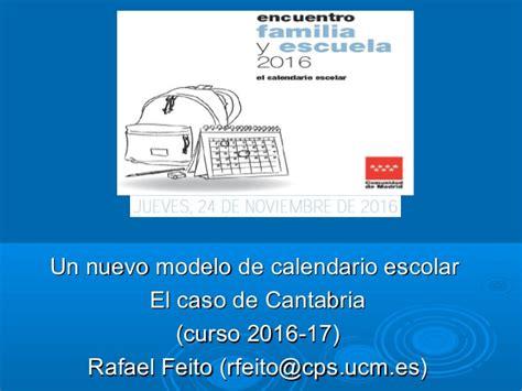 Calendario Escolar Cantabria Calendario Escolar Cantabria