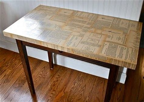 Decoupage Dining Room Table - decoupaged table top i personally appreciate that the