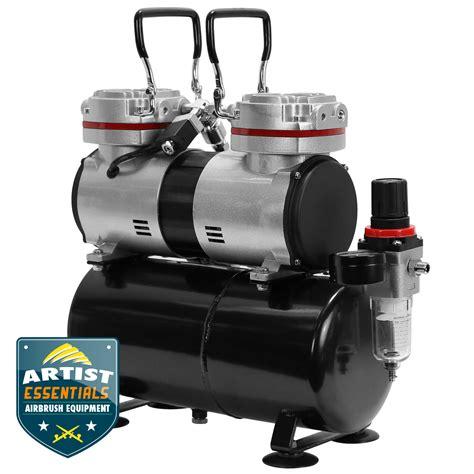 twin piston airbrush compressor  tank  hp ebay