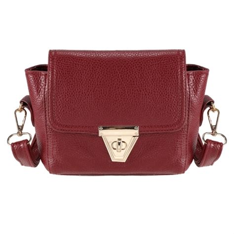 Metal Buckle Shoulder Bag faux leather mini shoulder bag with metal buckle closure