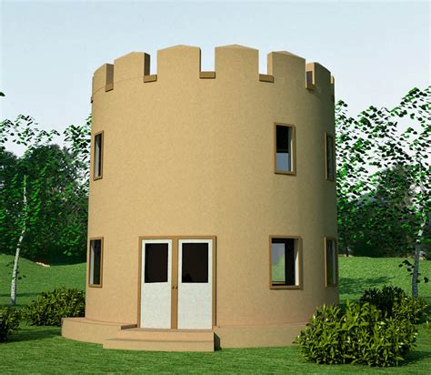 castle style earthbag house plans
