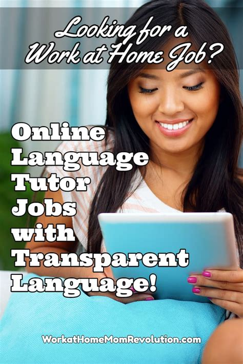 Online Tutor Jobs Work From Home - home based online tutor jobs with transparent language