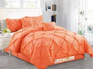 orange queen comforter set pintuck comforter sets sale ease bedding with style