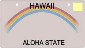 License Plate Template by Hawaiian License Plate Template Hi 世界のフラ タヒチアン ハワイアン無料素材