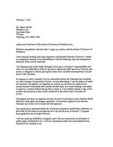 Board Of Directors Resignation Letter by Resignation Letter Sle Board Of Directors Images