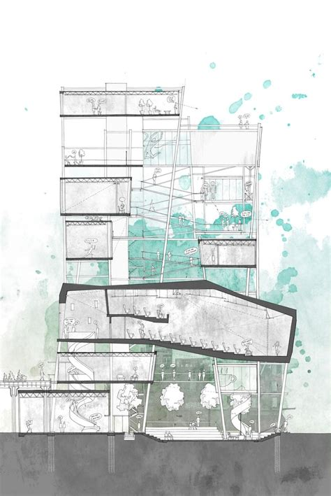 interior design section drawings 196 best images about presentation boards on pinterest
