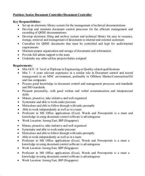 Document Controller Description 7 controller description sles sle templates