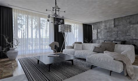 monochromatic living room home designing charming townhouse for a young couple contemporary designers furniture da