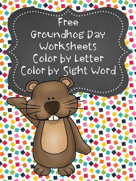 groundhog day free free groundhog day coloring pages kindergarten