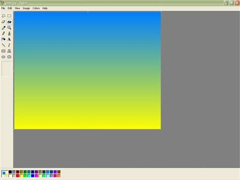 gradients in microsoft paint 5 steps